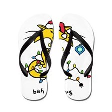yellow cat x-mas-1 copy Flip Flops