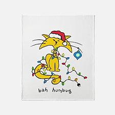 yellow cat x-mas-1 copy Throw Blanket
