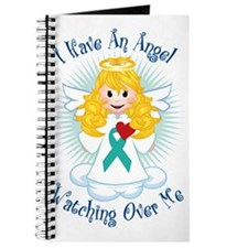 Angel-Watching-Over-Me-Teal-Ribbon Journal