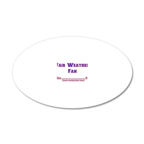 fairweather 20x12 Oval Wall Decal