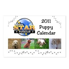 Puppy calendar cover4 Postcards (Package of 8)
