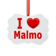 I Love Malmo red Ornament