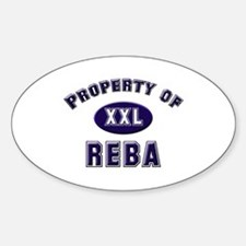 Property of reba Oval Decal