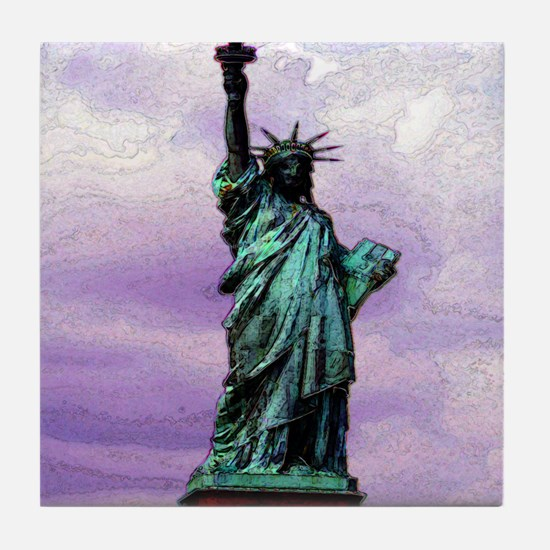 statue_of_liberty copy Tile Coaster