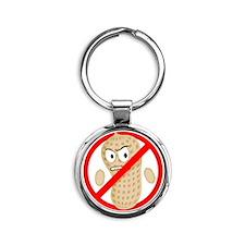Angry_Peanut_Tshirt Round Keychain