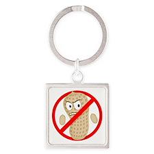 Angry_Peanut_Tshirt Square Keychain