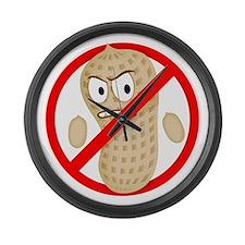 Angry_Peanut_Tshirt Large Wall Clock