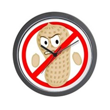 Angry_Peanut_Tshirt Wall Clock