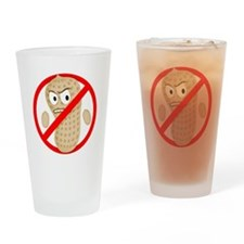 Angry_Peanut_Tshirt Drinking Glass