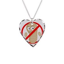 Angry_Peanut_Tshirt Necklace Heart Charm