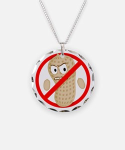 Angry_Peanut_Tshirt Necklace Circle Charm
