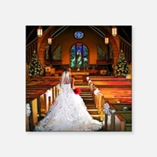 "wedding_gown copy Square Sticker 3"" x 3"""