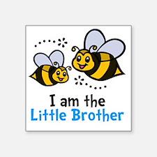 """Lil Bro Bee Square Sticker 3"""" x 3"""""""