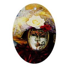 carnival_mask d by Blake Robson copy Oval Ornament