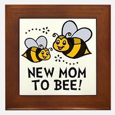 New Mom Bee Framed Tile
