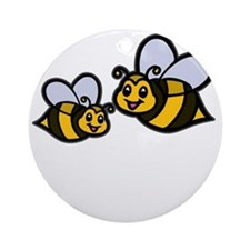 New Mom Bee -dk Round Ornament