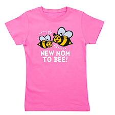 New Mom Bee -dk Girl's Tee