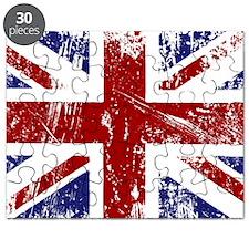 British Flag Punk Grunge Puzzle