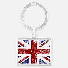 British Flag Punk Grunge Landscape Keychain