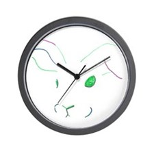 outline bunny Wall Clock