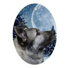 441_iphoneElkhound Oval Ornament