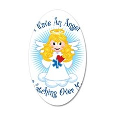 Angel-Watching-Over-Me-EMT 35x21 Oval Wall Decal