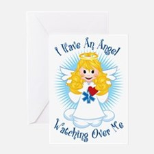 Angel-Watching-Over-Me-EMT Greeting Card