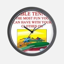 table tennis joke Wall Clock
