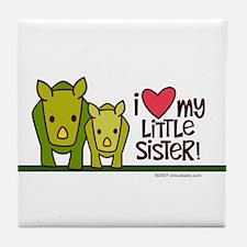 Little Sister Rhino Tile Coaster