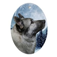 443_iphoneElkhound Oval Ornament