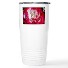 dk_pink_rose_Lg_framed Travel Mug