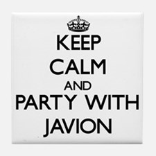 Keep Calm and Party with Javion Tile Coaster