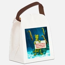 SEA HORSE Canvas Lunch Bag