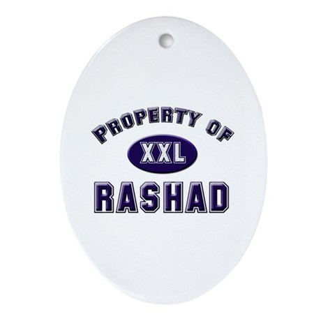 Property of rashad Oval Ornament