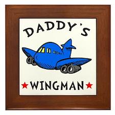 Daddys Wingman Framed Tile