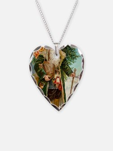 ! Santa 2 Necklace Heart Charm