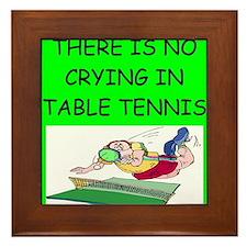 table tennis gifts Framed Tile