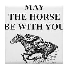 i love horse racing Tile Coaster