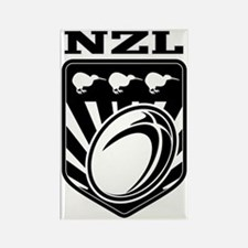 rugby ball kiwi shield new zealan Rectangle Magnet