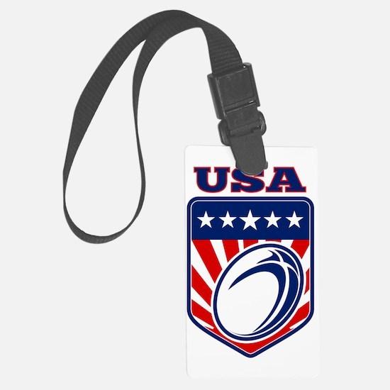 American rugby ball shield USA Luggage Tag