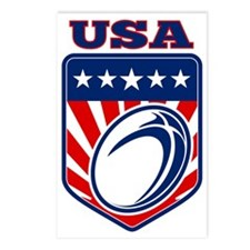 American rugby ball shiel Postcards (Package of 8)