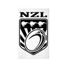 rugby ball kiwi shield new zealand 3'x5' Area Rug