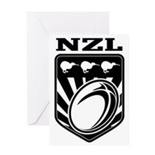 rugby ball kiwi shield new zealand Greeting Card