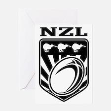 rugby ball kiwi shield new zealand Greeting Card