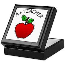 A+ Teacher Keepsake Box