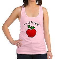 A+ Teacher Racerback Tank Top