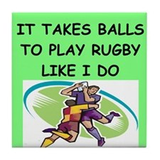 RUGBY gifts t-shirts Tile Coaster