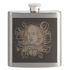 william_shakespeare_gold-black Flask