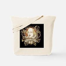 william_shakespeare_gold-black Tote Bag