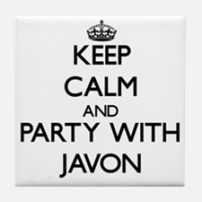 Keep Calm and Party with Javon Tile Coaster